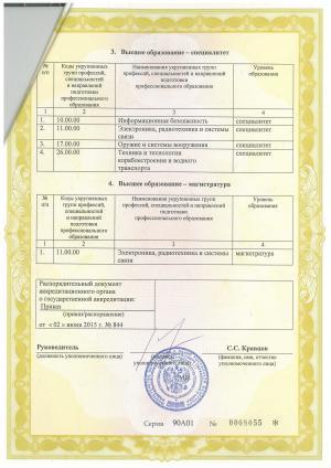 Свидетельство аккредитация ЧВВМУ 4
